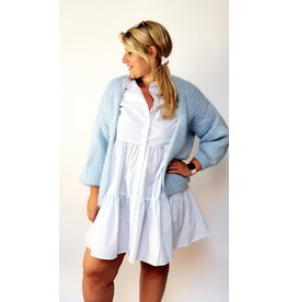 Poppy baby blue cardigan