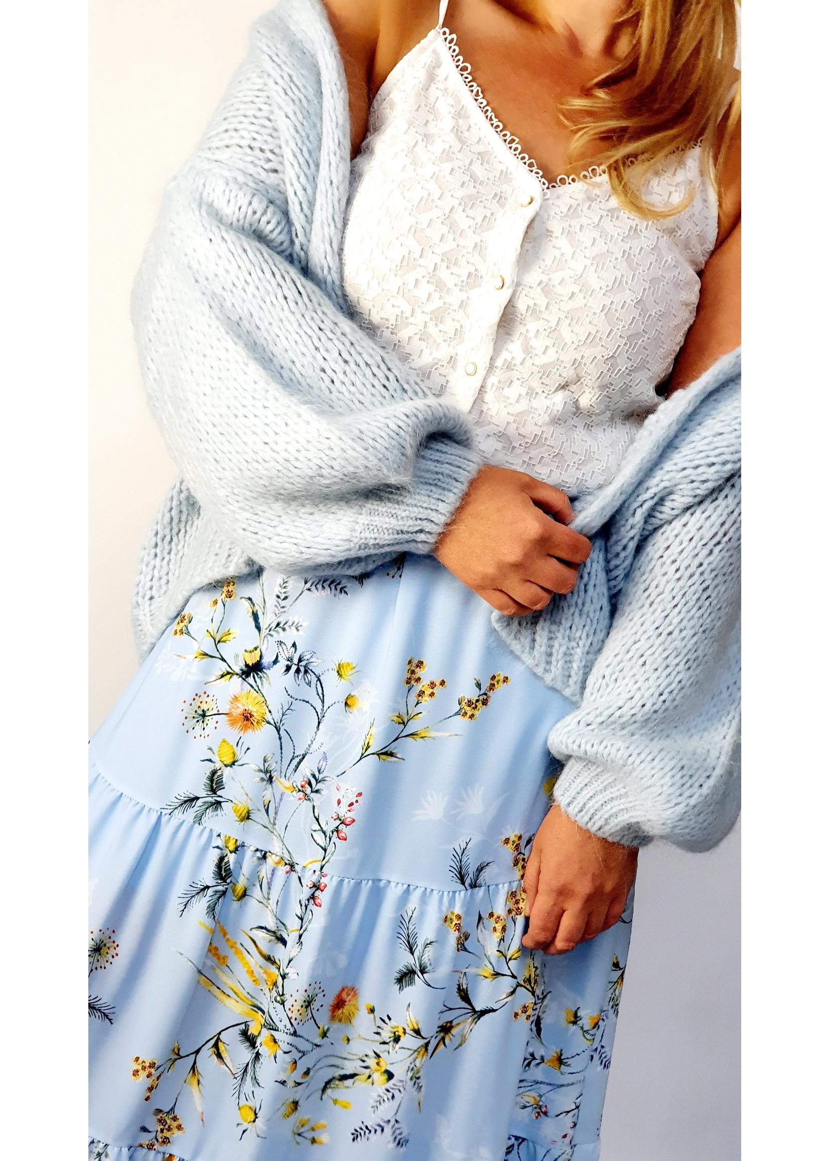Poppy baby blue cardigan