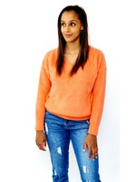 Orange feeling knitted sweater