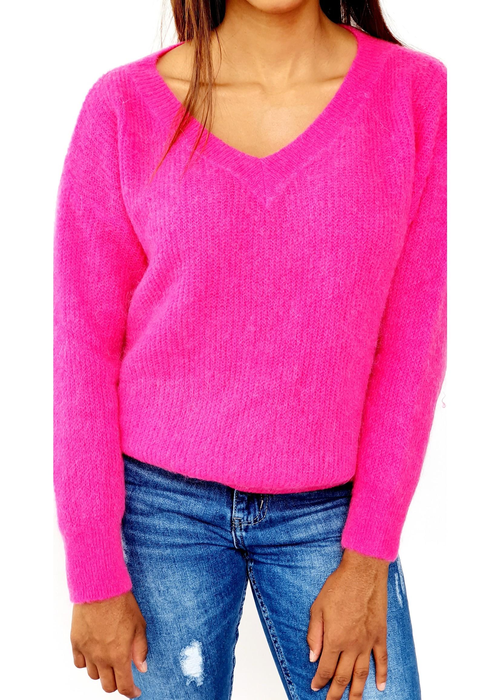Fuchsia feeling knitted sweater