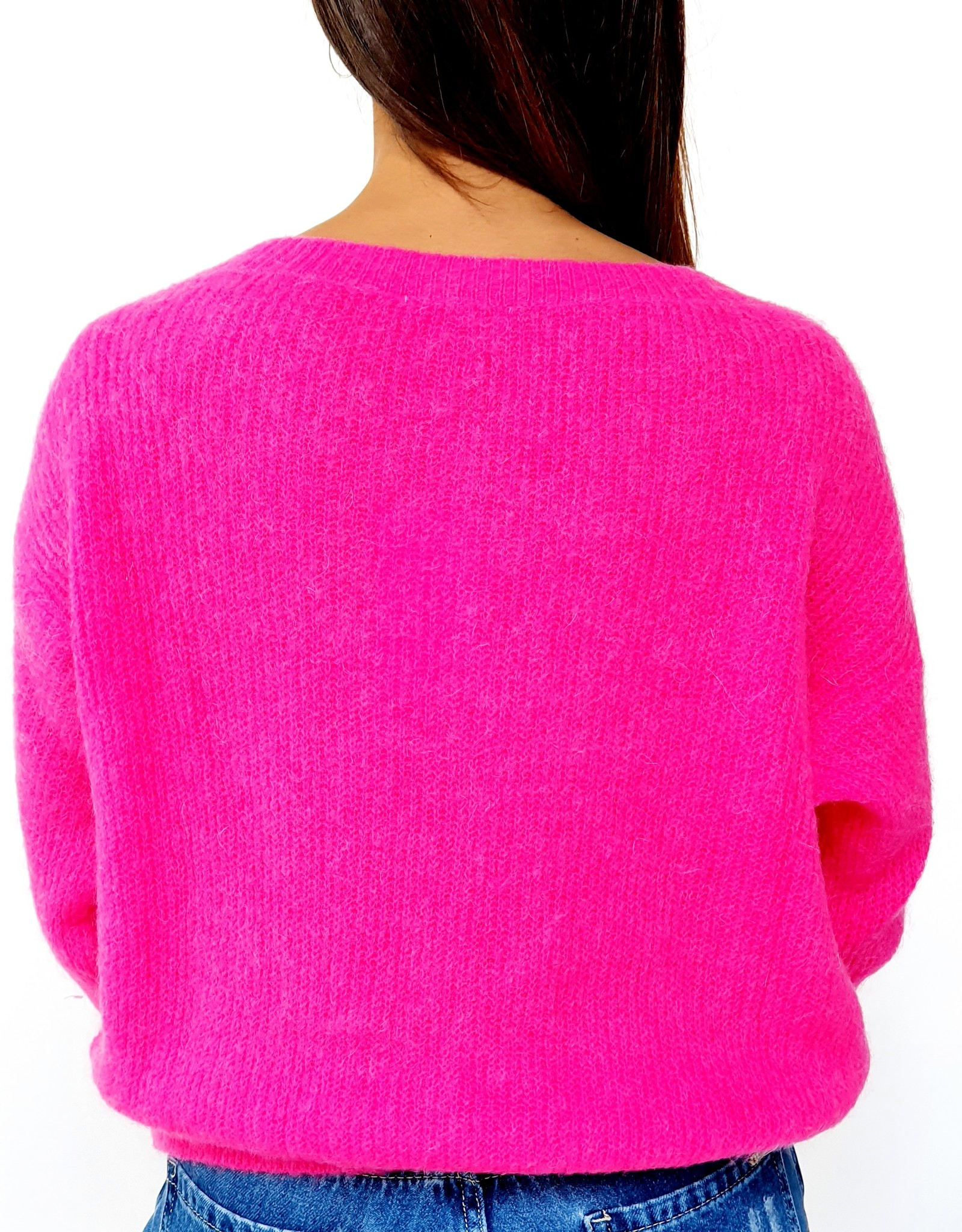 Fuchsia feeling knitted sweater