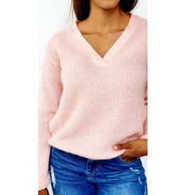 Sweet pink feeling knitted sweater