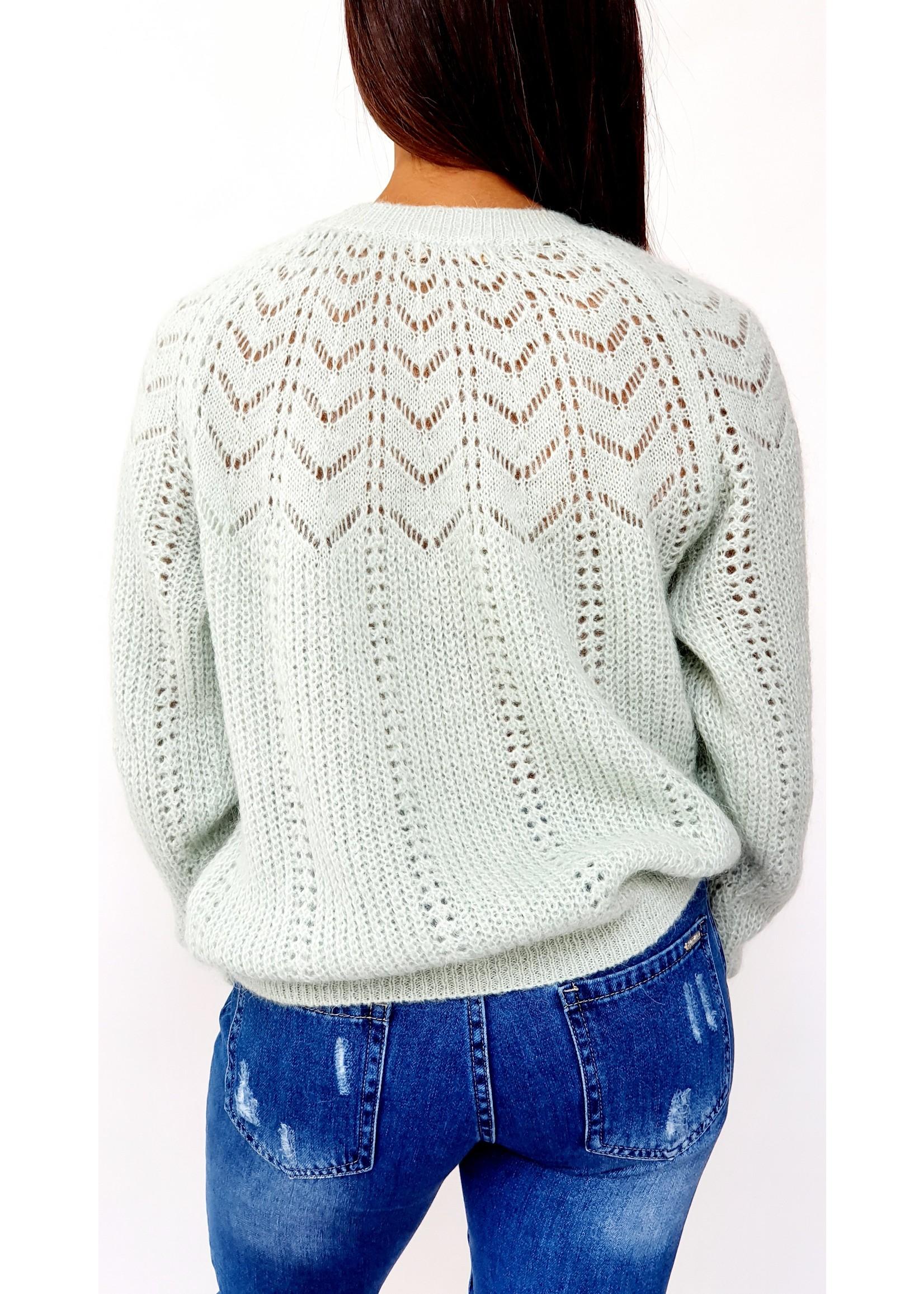 Breeze mintgreen knitted sweater