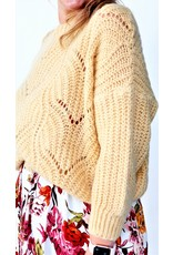 Feeling soft yellow knitted sweater