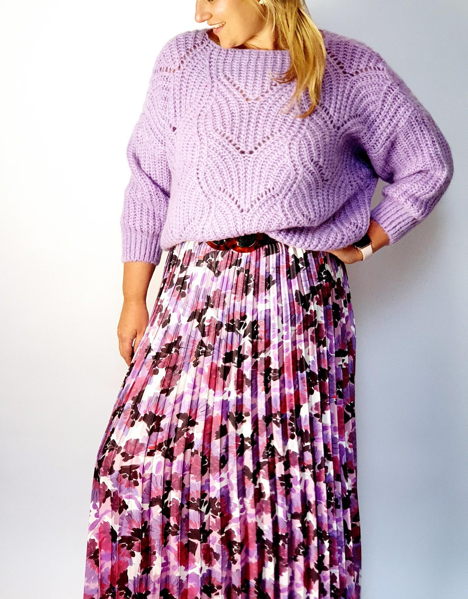 Lilac flower skirt
