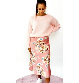 Shiny pink flower skirt