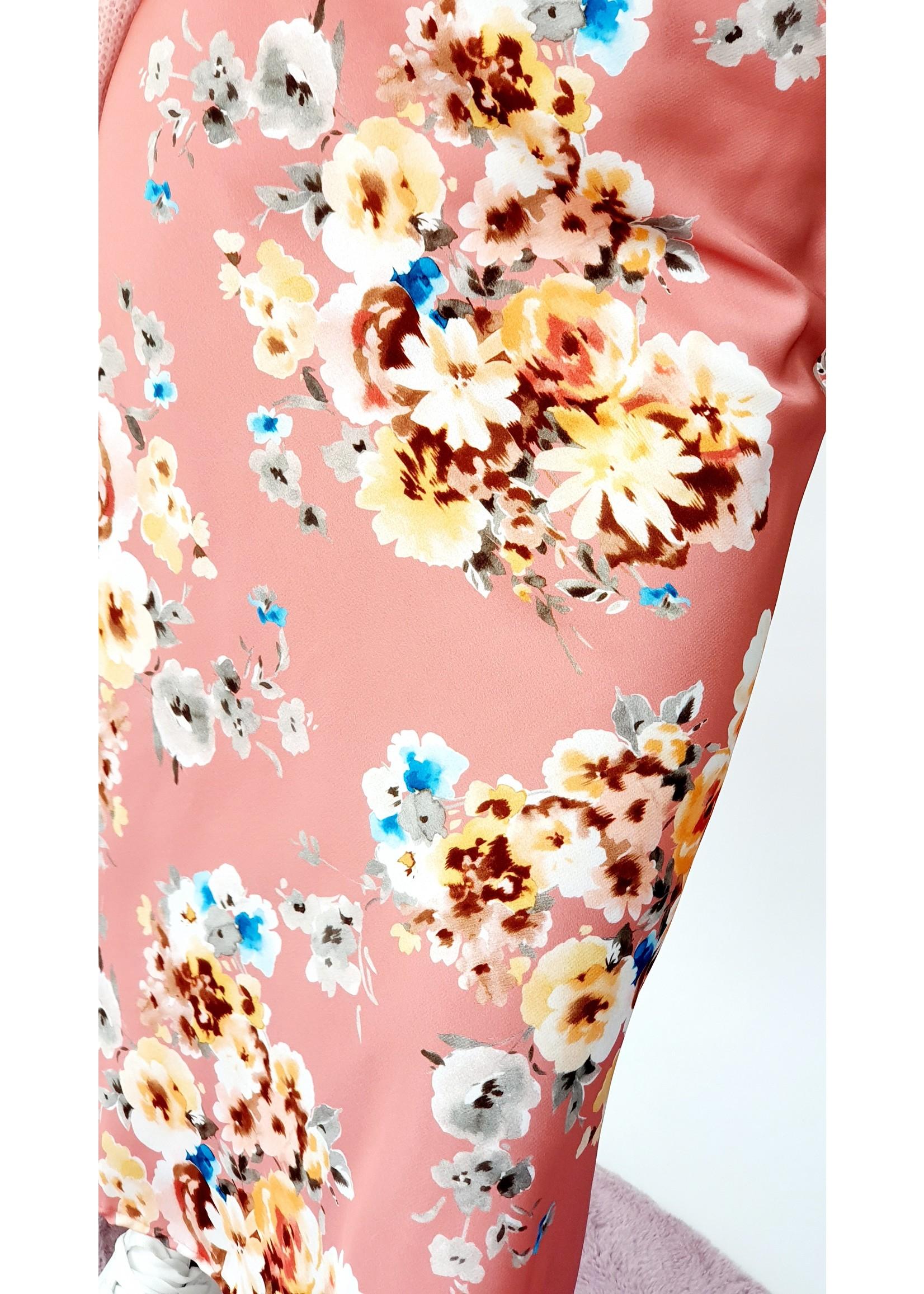 Shiny pink flower skirt