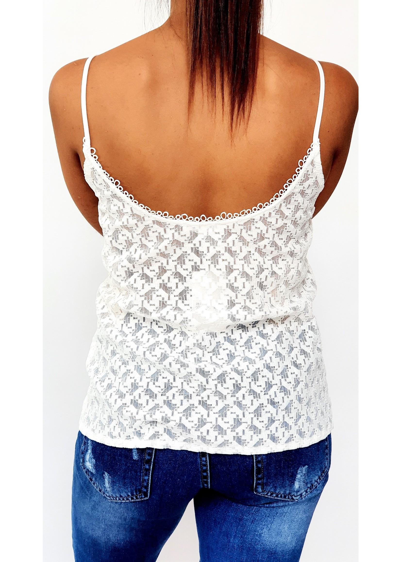 Romantic white top