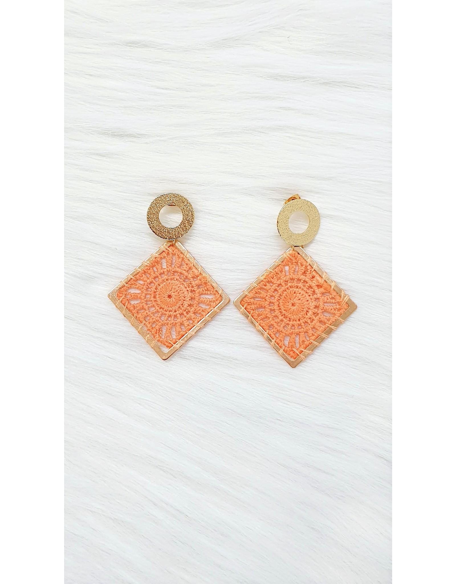Gold peachy orange