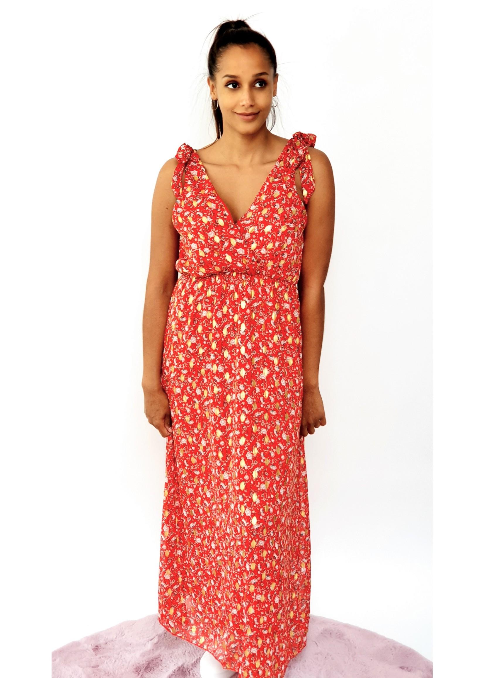 Thé goldy red dress