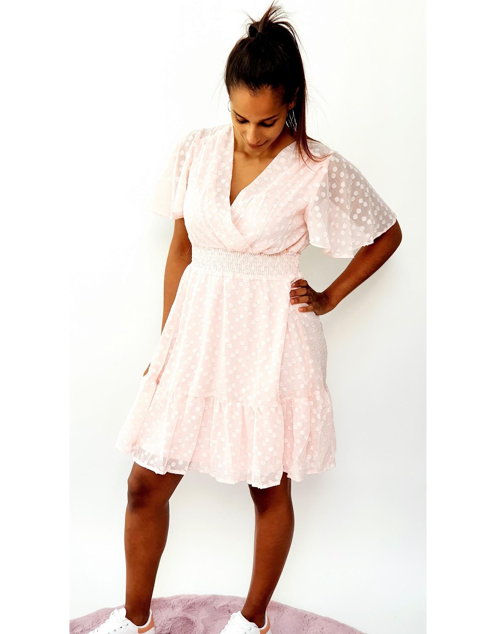 Thé pink dotty dress