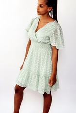Thé green dotty dress