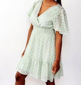 Thé green dotty dress