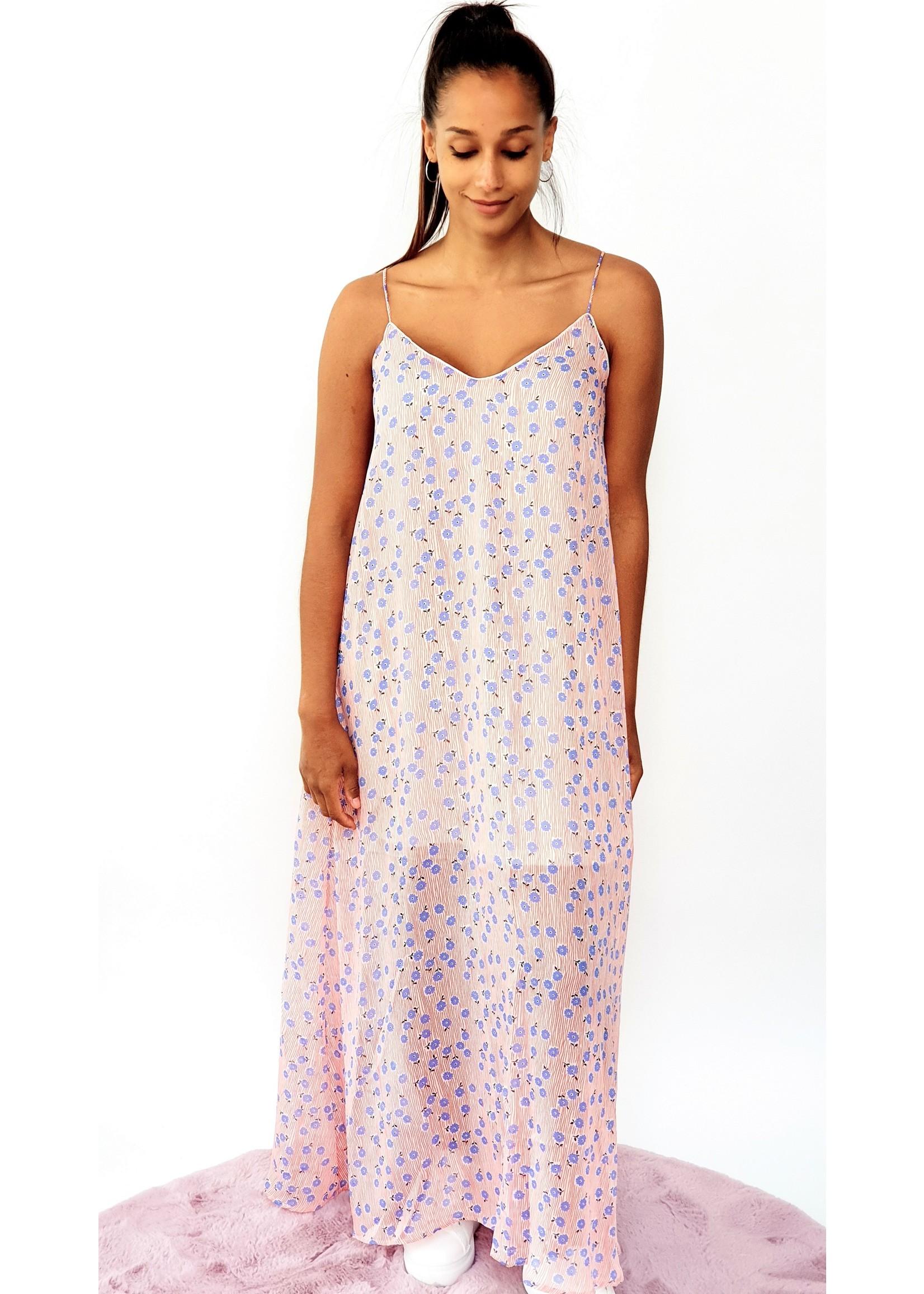 Thé silver blue flower dress