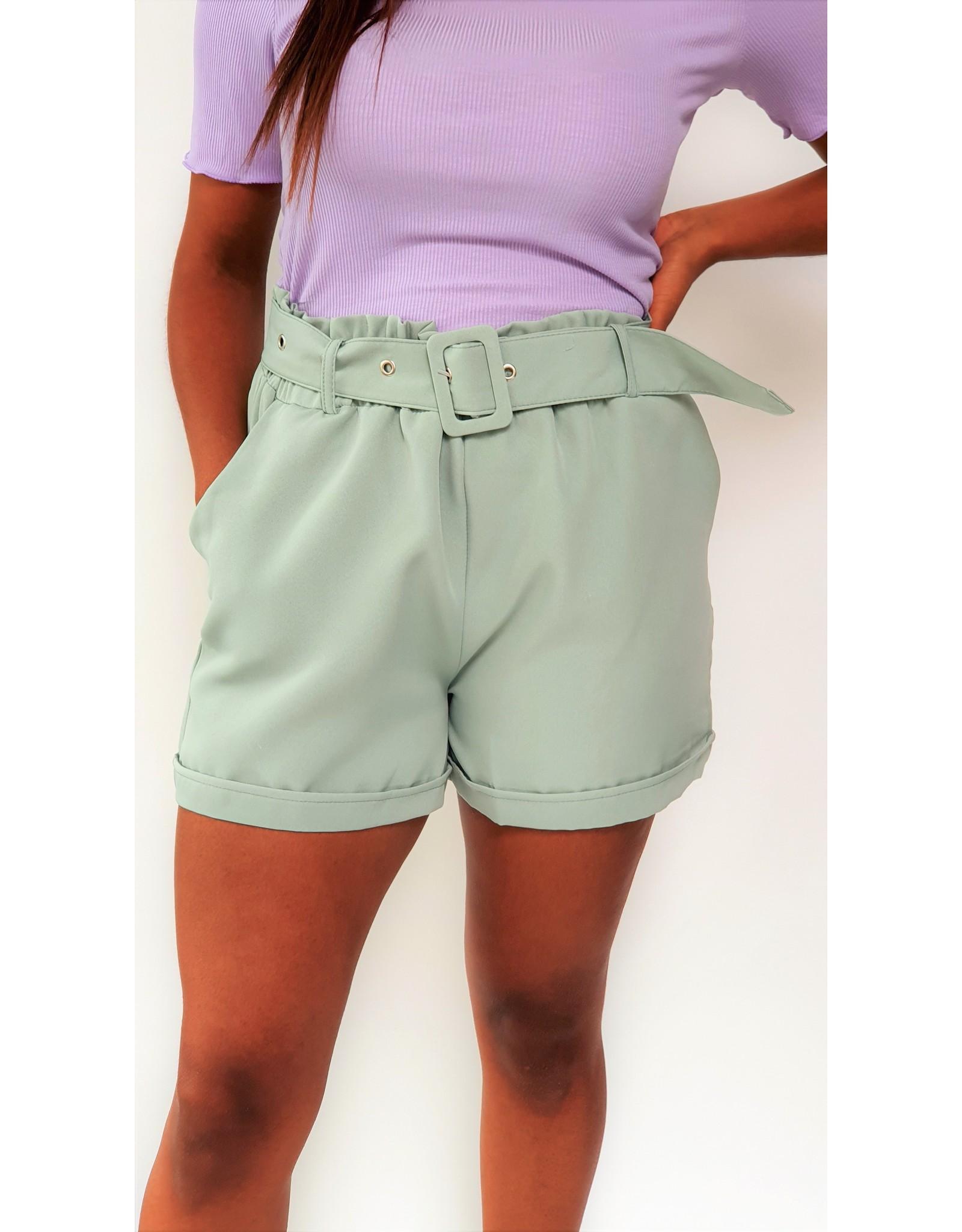 Dark mint green short