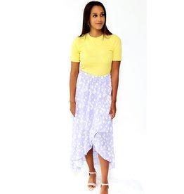 Thé romantic lilac daisy skirt