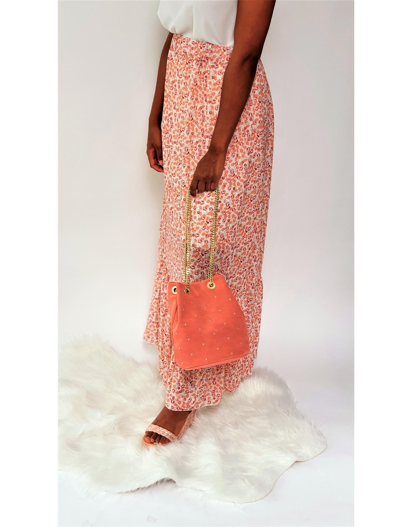 Peachy flower skirt