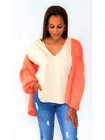 Poppy coral orange cardigan