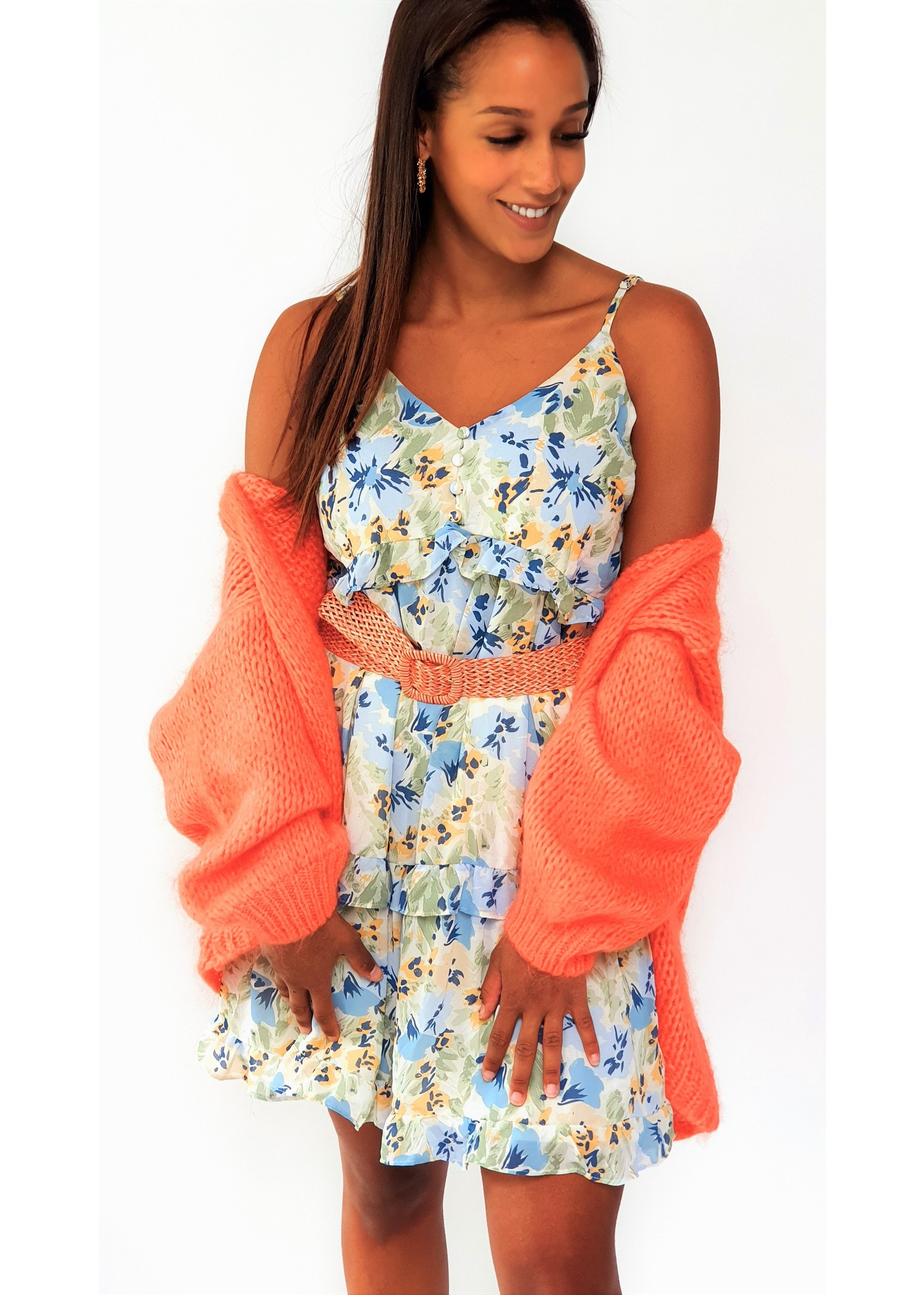 Poppy coral orange cardigan