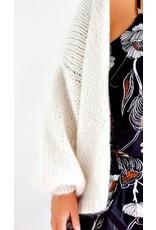 Poppy white cardigan
