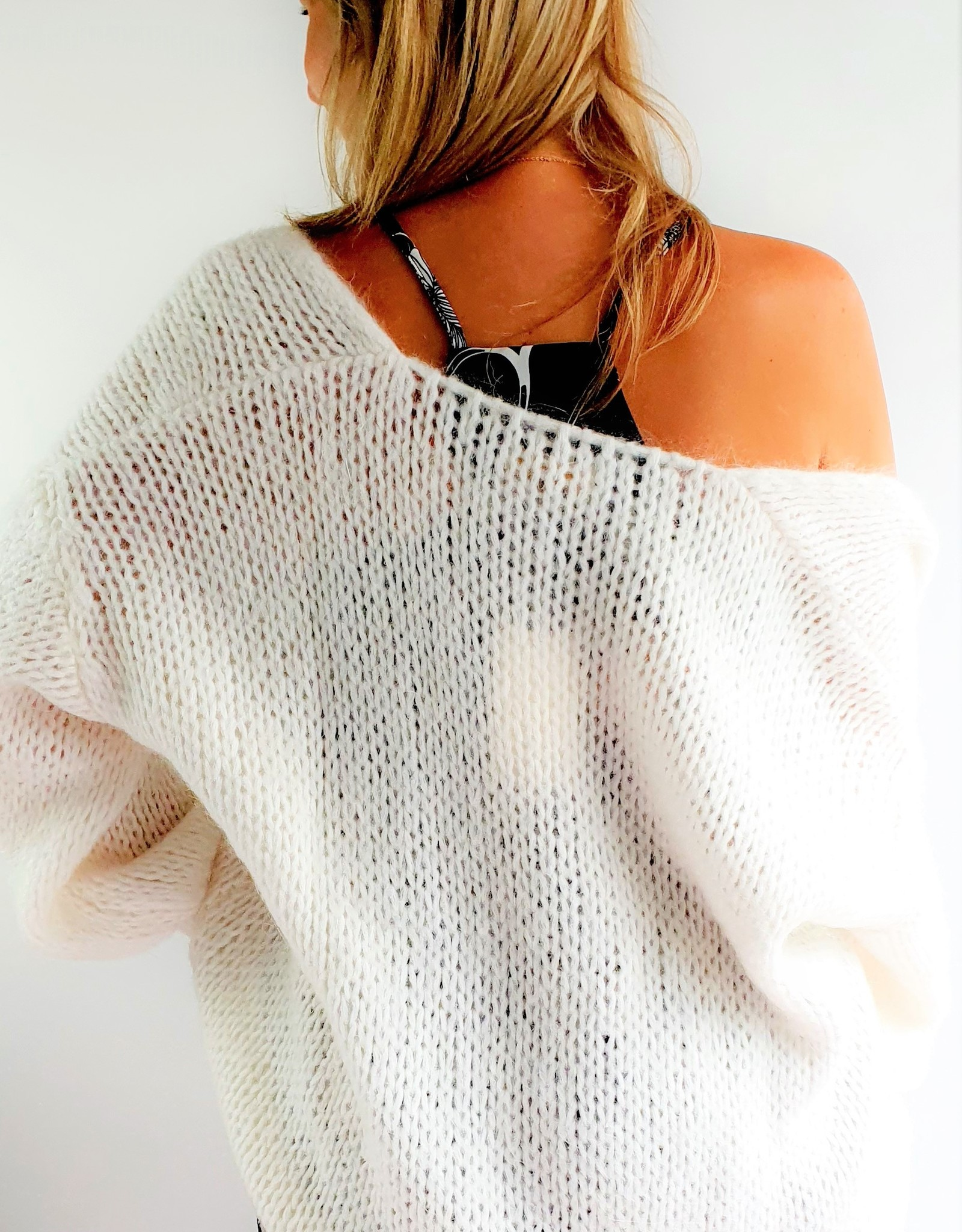 Poppy white cardigan
