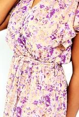 The lilac golden dress