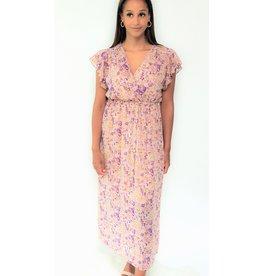 Thé lilac golden dress