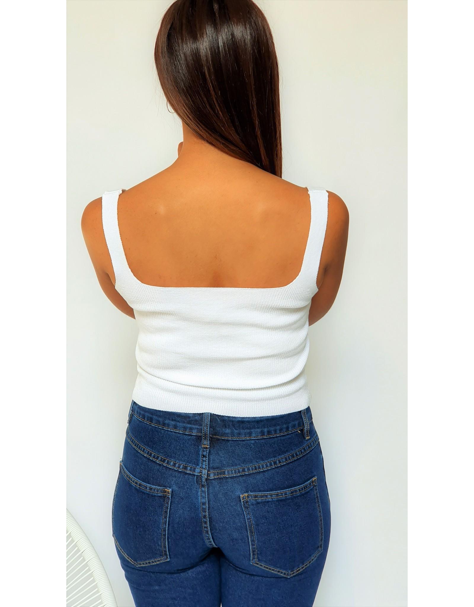 White short top