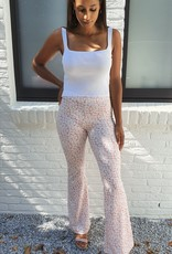 Pink flared pants