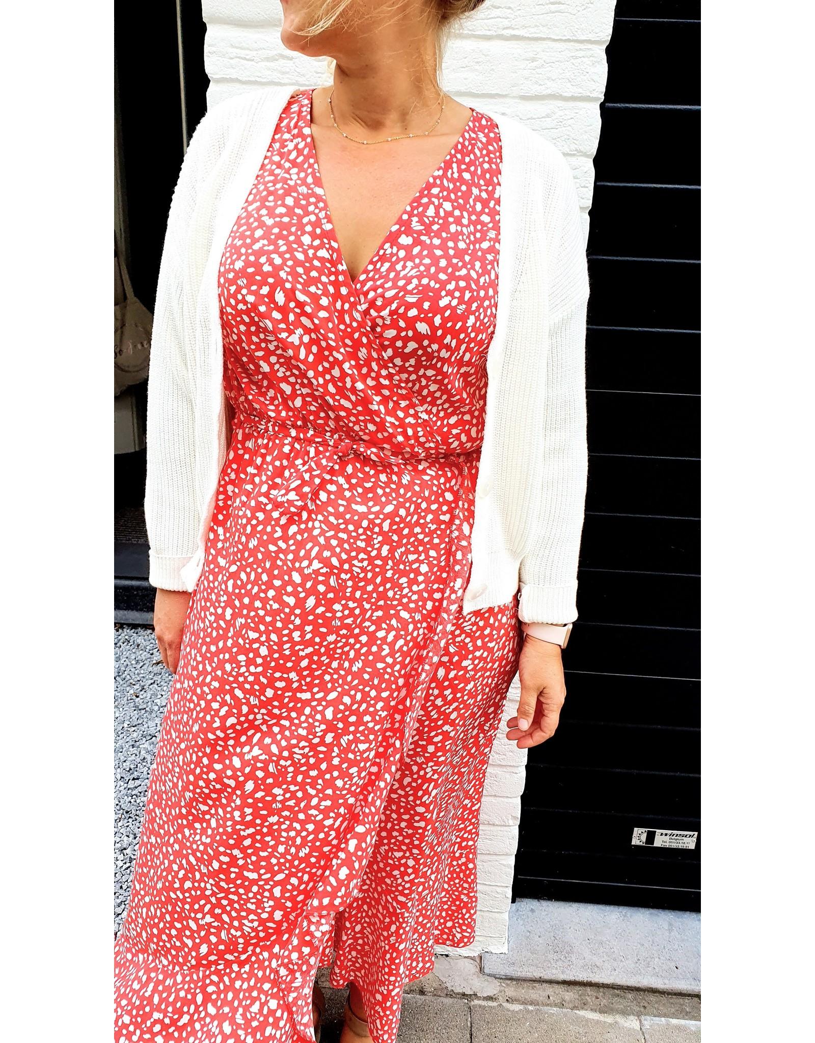 Thé red leopard dress
