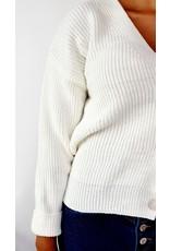Classy white cardigan