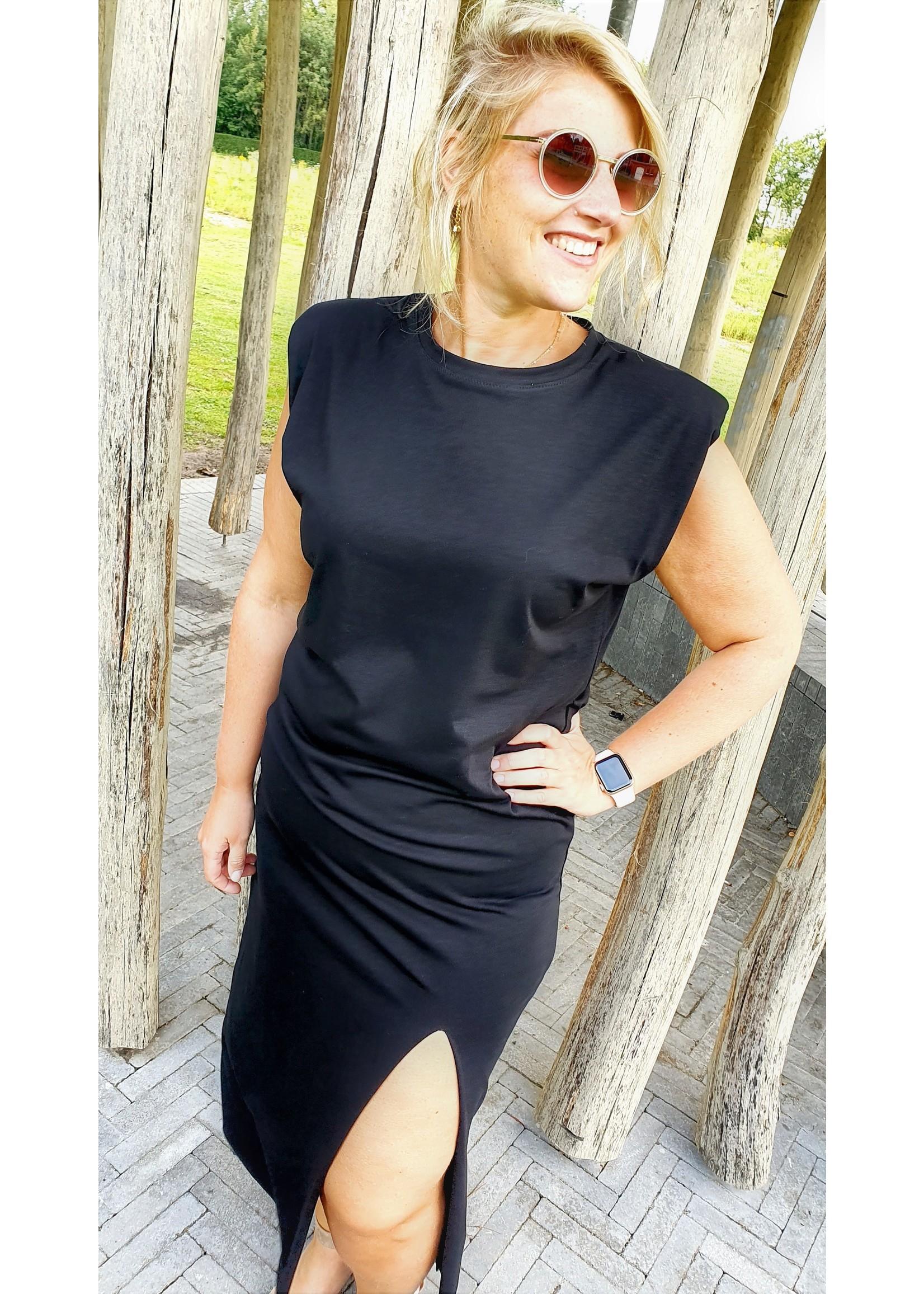 Thé padded black dress
