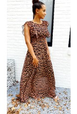 Thé cognac leopard dress