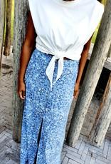 Summerflower blue skirt
