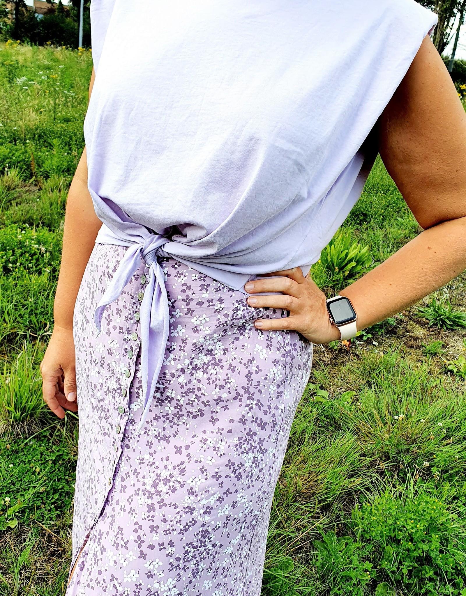 Summerflower lilac skirt