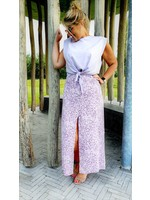 Summerflower lilac skirt