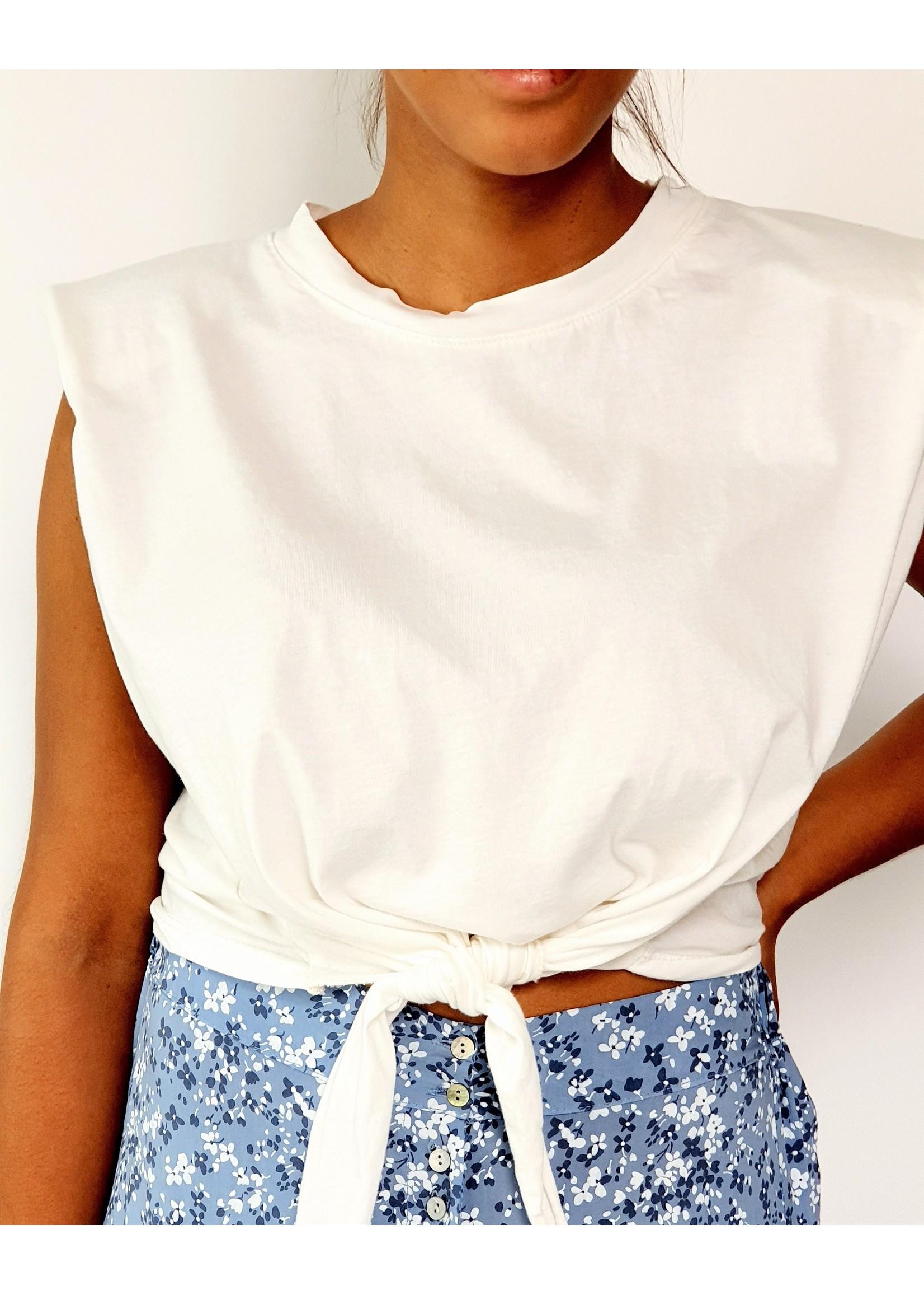 Thé padded white shirt