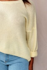 Mika Elles Yellow love sweater