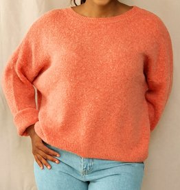Mika Elles Soft peach pink love sweater