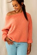 Mika Elles Soft peach pink love sweater