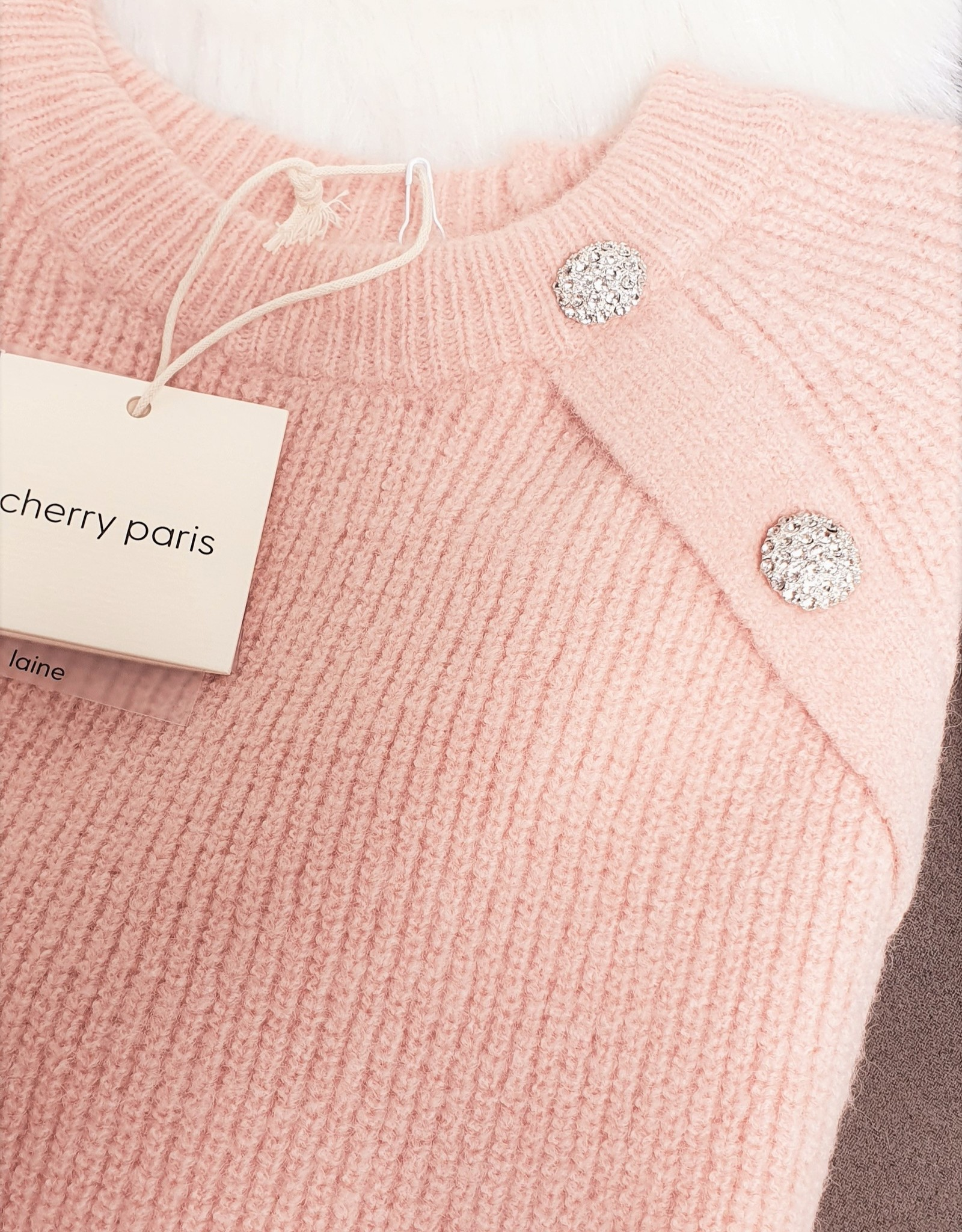 Cherry Paris Officiel Cherry pink sweater