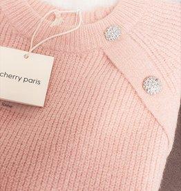 Cherry Paris Officiel Cherry pink sweater