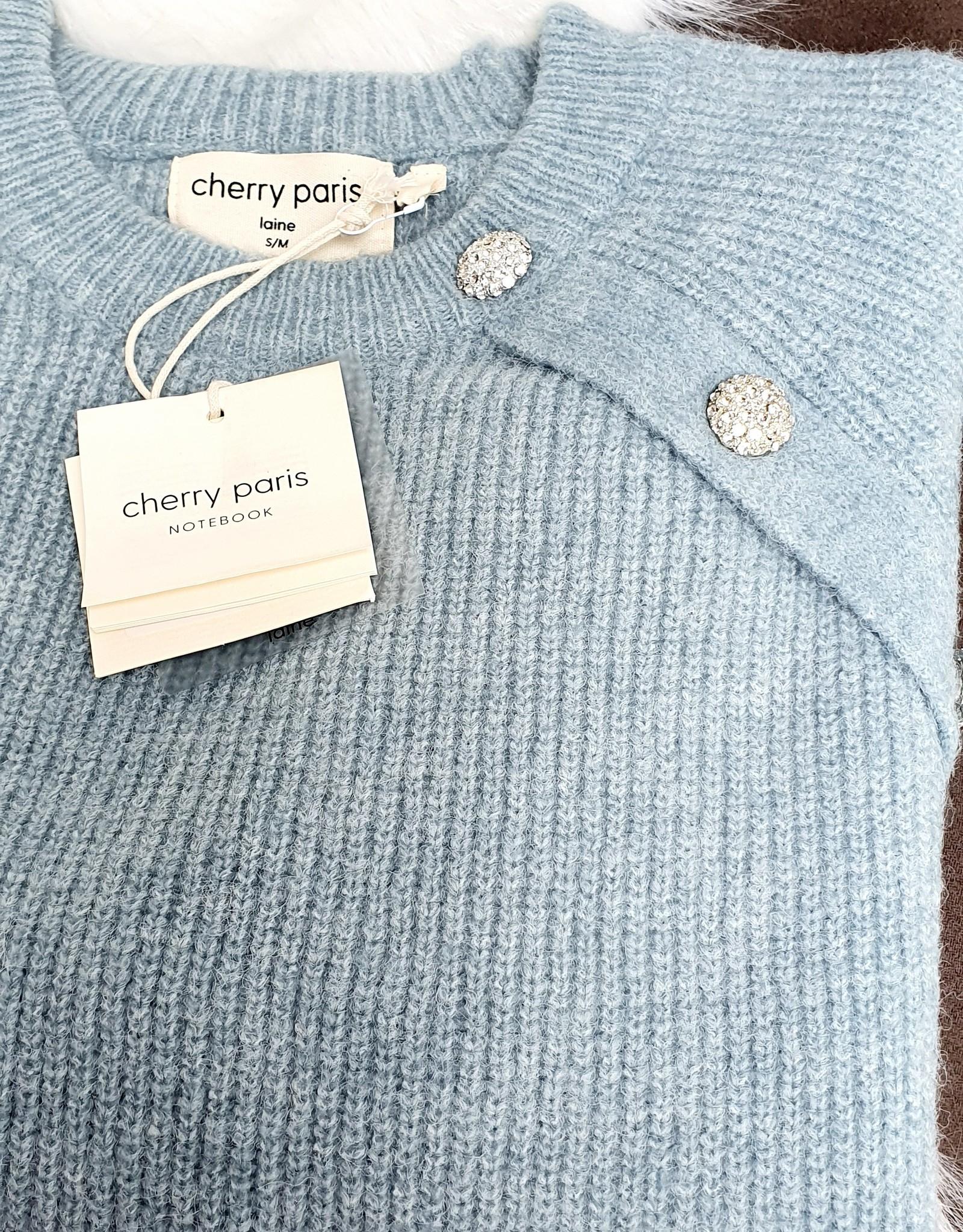 Cherry Paris Officiel Cherry blue sweater