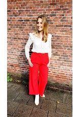 Cherry Paris Officiel Cherry red pantalon