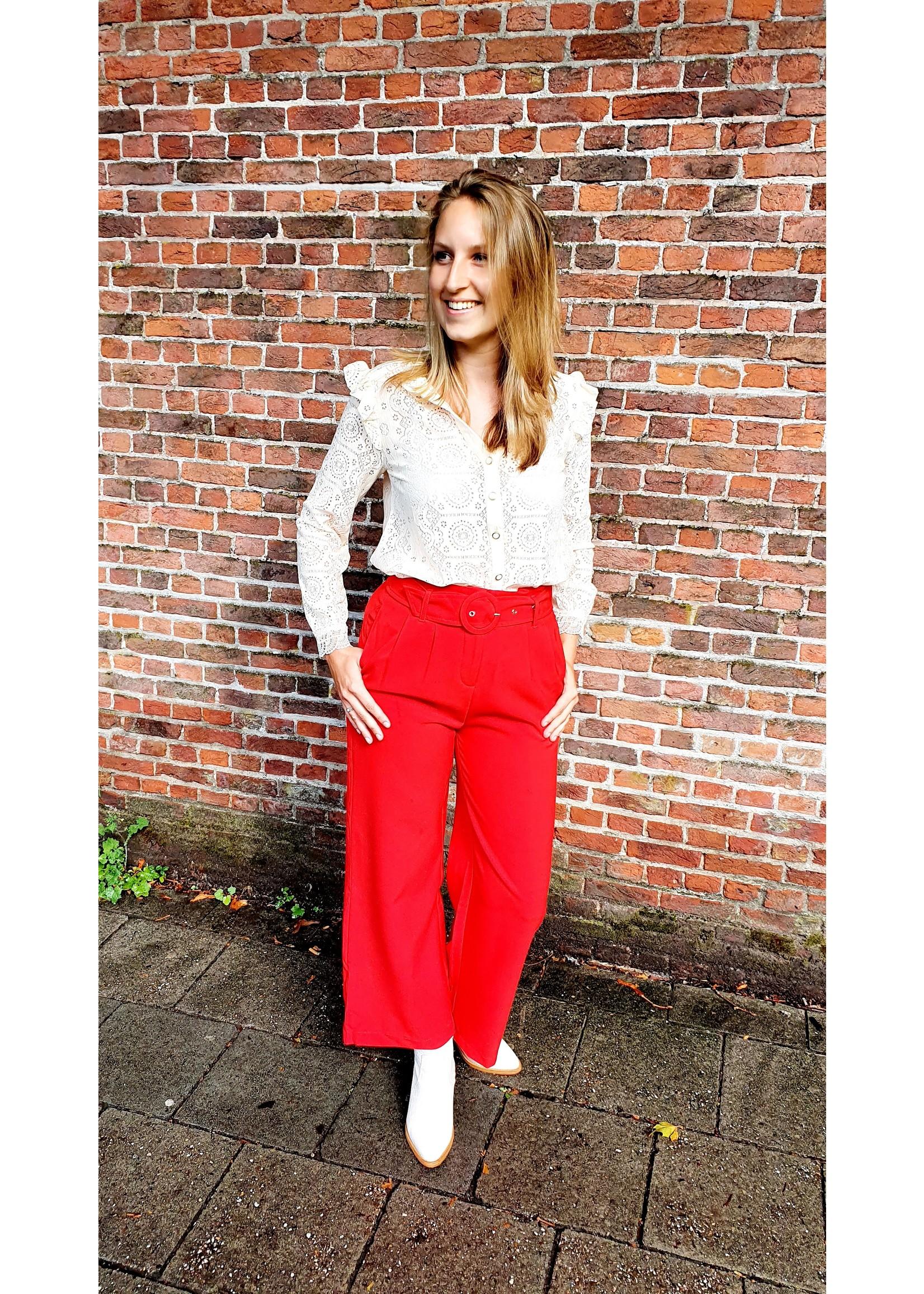 Cherry Paris Officiel Cherry red pantalon