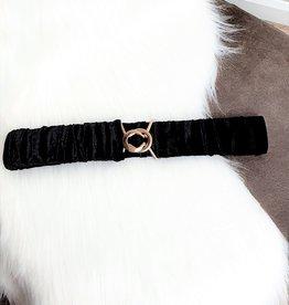Velvet black belt