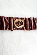 Velvet oud roze/taupe belt