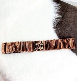 Velvet  cognac belt