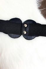 Black shiny belt