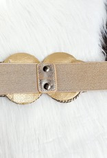 Gold shiny belt